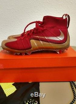 Nike Vapor Untouchable Red Gold Football Cleats Taille 12 New In Box